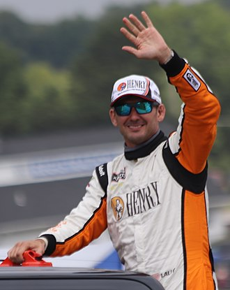 Andy Lally - Lally in 2018 at Road America