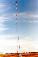 428 meter station E Omega antenna at Chabrier, Réunion island.