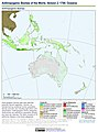 Anthropogenic Biomes of the World, Version 2, 1700 Oceania (13603044193).jpg