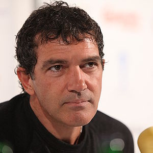 Actor and director Antonio Banderas present hi...
