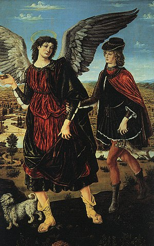 Sabauda Gallery - Image: Antonio del Pollaiolo Tobias and the Angel WGA18047