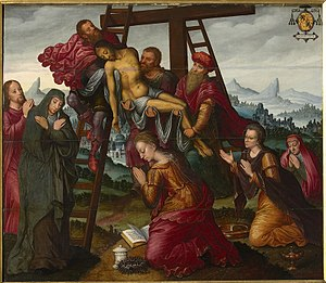 Deposition - central panel of a triptych