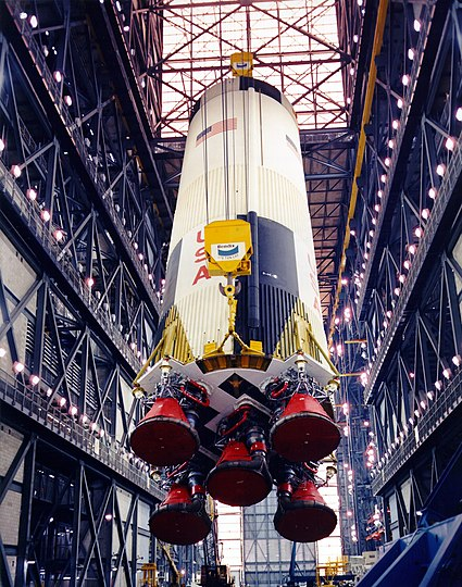 The S-IC first stage in the VAB
