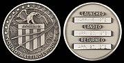 Apollo 16 Flown Silver Robbins Medallion (SN-19)