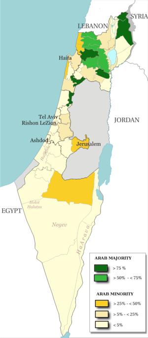 Majority minority - Map of Arab population, 2000