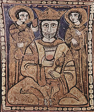 Emirate of Sicily - A 12th century Arab-Norman painting depicting Roger II