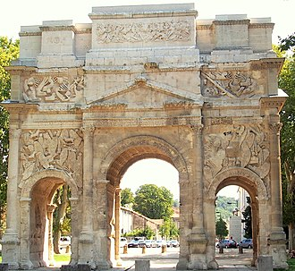 Triumphal Arch of Orange - Image: Arch in Orange, France Aug 2013 Front