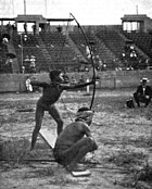 Archery on Antropology days during 1904 Summer Olympics