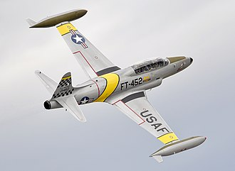 Lockheed T-33 - A demonstration T-33 in flight, 2016.