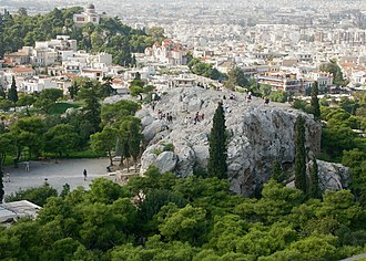 Ares - The Areopagus as viewed from the Acropolis.