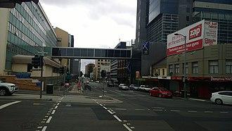 Argyle Street, Hobart - Argyle Street intersecting with Liverpool Street