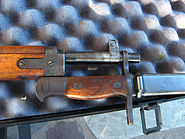 Arisaka Type 99 bayonet attached