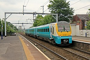 Patricroft railway station - Image: Arriva Trains Wales, Class 175, 175108, Patricroft railway station (geograph 4004213)
