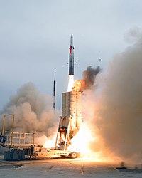 Arrow anti-ballistic missile launch