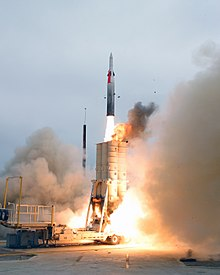 Arrow 2 launch on July 29, 2004, in Naval Air Station Point Mugu Missile Test Center, during AST USFT#1