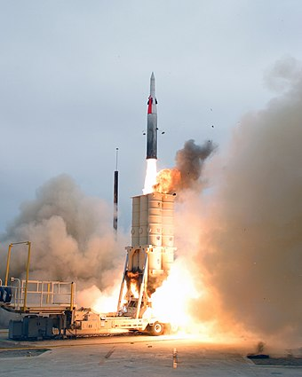 Arrow missile Arrow anti-ballistic missile launch.jpg