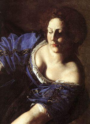 Artemisia Gentileschi - Judith Beheading Holof...