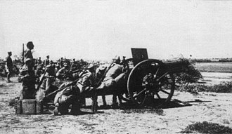 Battle of Agordat (1941) - Italian artillery firing on Kassala