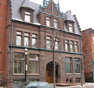The Arts and Letters Club of Toronto - Front entrance at 14 Elm Street