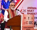 Ashwini Kumar Choubey addressing at the inauguration of the two-day National Dissemination Workshop on Anemia Mukt Bharat and Home-Based Young Child Care (HBYC), in New Delhi.JPG