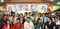 Asin, Ajay Devgn, Dilip Joshi, Shailesh Lodha, Abhishek Bachchan, Prachi Desai, Rohit Shetty 'Bol Bachchan' team on the sets of Taarak Mehta Ka Ooltah Chashmah 10.jpg