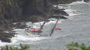 STV Astrid - Astrid sinking on 24 July 2013