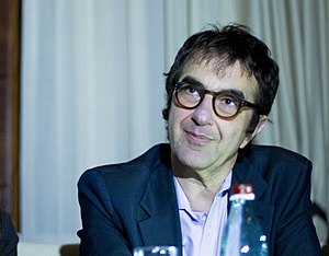 Atom Egoyan - Atom Egoyan at a press conference in Stepanakert, Nagorno Karabgh. April, 2017