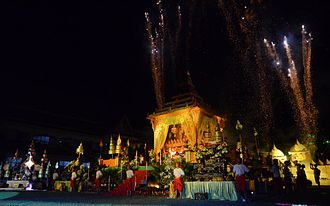 Uttaradit Province - The Atthami Bucha Festival at Thung Yang village commemorates the cremation of the Buddha