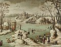 Attributed to Abel Grimmer A Winter Townscape with Figures.jpg