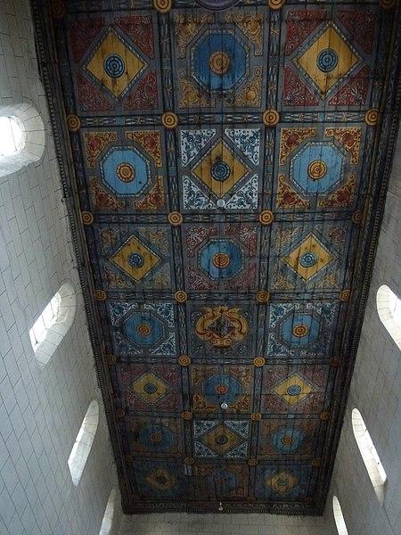 Aubenton (Aisne) Église Notre-Dame, plafond peint