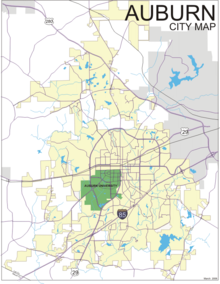 Auburn Alabama Wikipedia - Auburn us map