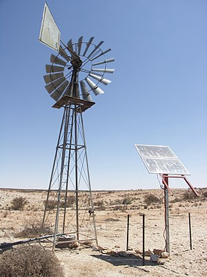 Solar-powered pump - Image: Augrabies windpump 001