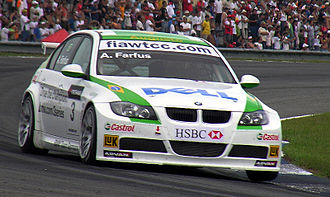 Augusto Farfus - Farfus driving a BMW 320si (BMW Team Germany) at Curitiba in the 2007 World Touring Car Championship season.