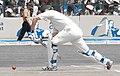 Australian batsman defending the ball (5108054714).jpg