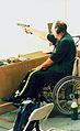 Australian paralympic shooter, Iain Fischer shoots.jpg