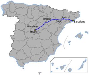 Autovía A-2 - Image: Autoviaesp a 2