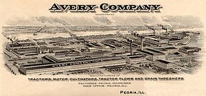 Avery Company - Bird's Eye view of Avery Company, Peoria, IL