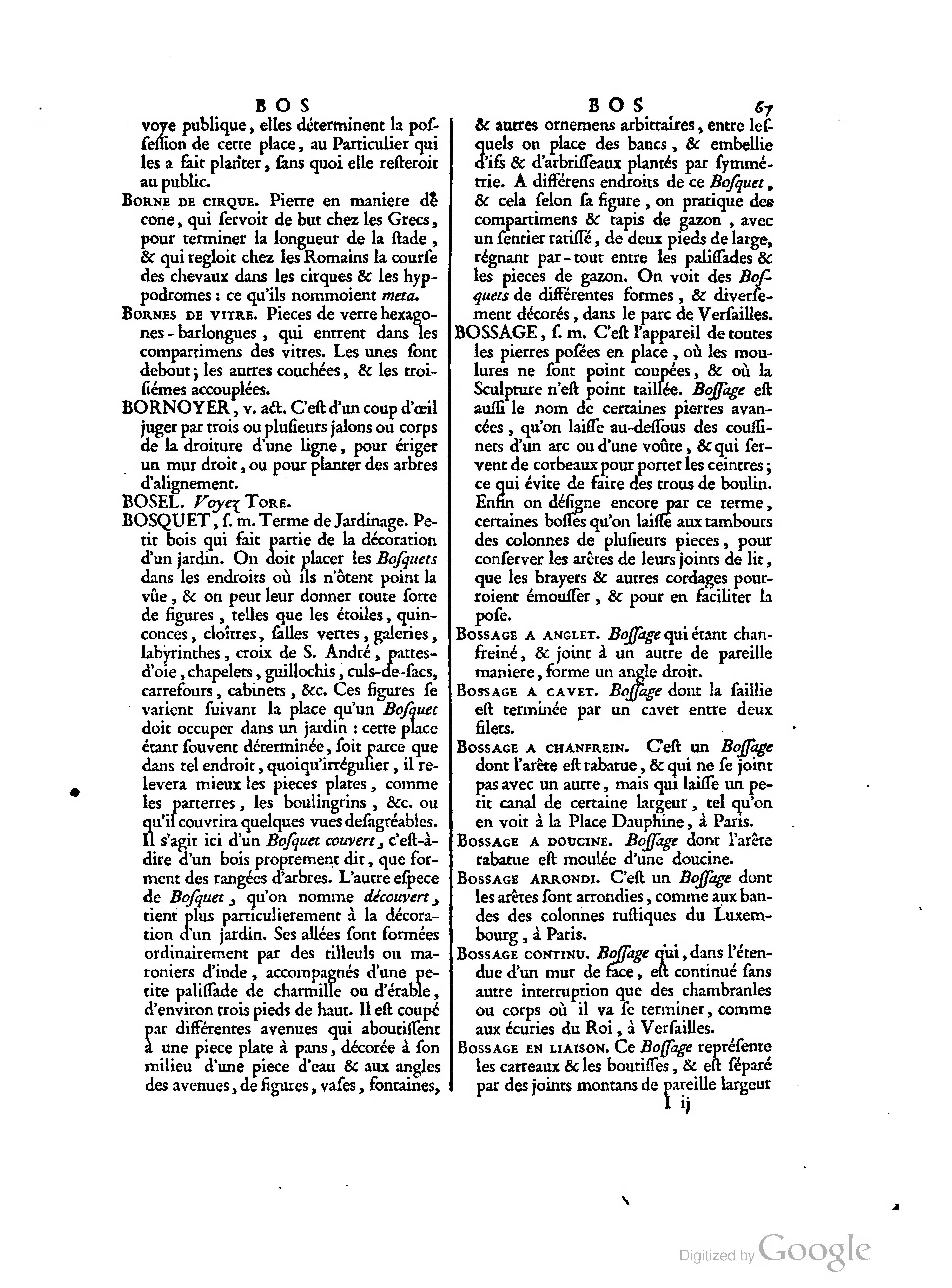 Page aviler dictionnaire d architecture civile et for Dictionnaire architecture