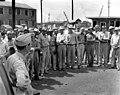 Awards being presented to J A Jones Brick Layers by Army 1944 Oak Ridge (32427601475).jpg