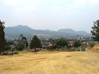 Ayapango - View of municipality from monastery ruins