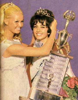 الهه عضدی ملکه زیبایی نوجوانان ایران در سال 1968