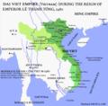 Bản đồ Việt Nam dưới thời vua Lê Thánh Tông, vương triều Lê Sơ năm 1480.png