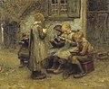 B.J. Blommers - Schooltje spelen - AB9244 - Cultural Heritage Agency of the Netherlands Art Collection.jpg