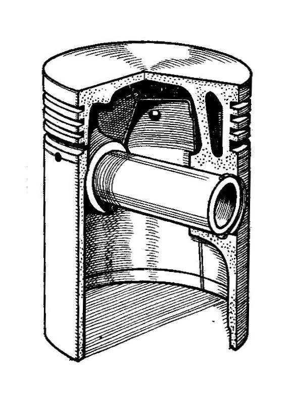 BHB Hiduminium piston (Autocar Handbook, 13th ed, 1935)