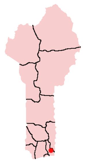 Sourou-Migan Apithy - Location of Porto Novo in Benin