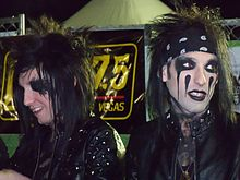 Black veil brides wikipedia bvb members jake pitts left and cc right at a signing table in las vegas in march 2011 m4hsunfo