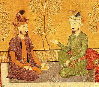 Kabul - Humayun with his father Babur, emperors of the Mughal Empire