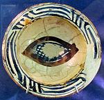 Bacino ceramico da facciata del duomo di s. miniato, nord-africa, 1190 ca. 14.JPG