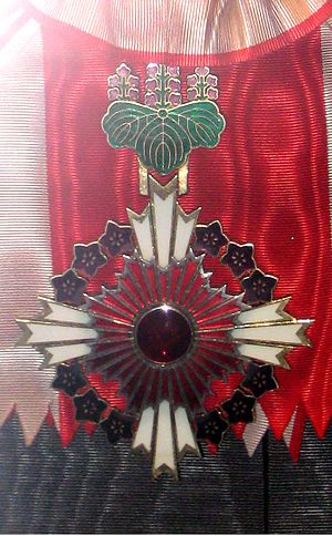 Order of the Paulownia Flowers - Badge of the Grand Cordon of the Order of the Paulownia Flowers