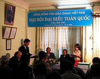 Bahá'í administration - Vietnamese Baha'is elect their National Spiritual Assembly in Danang, in 2009.